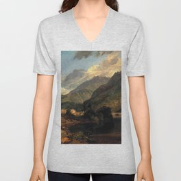 Joseph Mallord William Turner - Bonneville, Savoy Unisex V-Neck