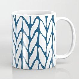 Hand Knitted Navy Coffee Mug