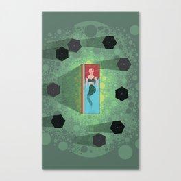 Mermaid Funeral Canvas Print