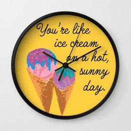 Sunshiney Day Wall Clock
