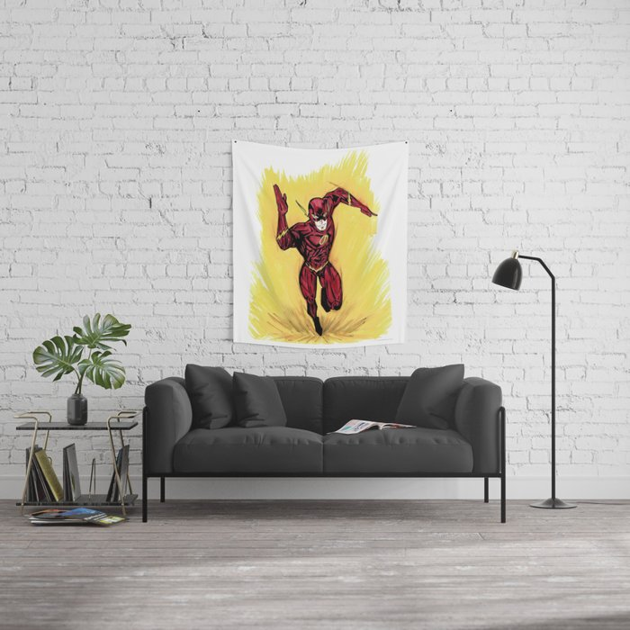 Flash. The fastest man alive Wall Tapestry