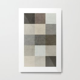 color block - gray Metal Print