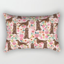 Irish Setter dog breed floral pattern gifts for dog lovers irish setters Rectangular Pillow