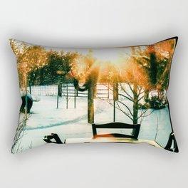 Winter silence Rectangular Pillow
