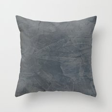 Slate Gray Stucco - Faux Finishes - Rustic Glam Throw Pillow