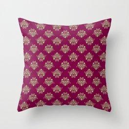 Golden Damask Throw Pillow
