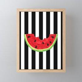 Cool Watermelon Framed Mini Art Print