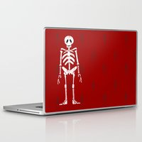 skeleton Laptop & iPad Skins featuring Skeleton by Emma Harckham