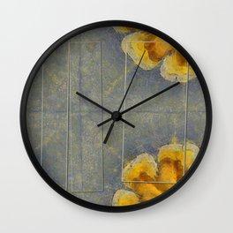 Unworminess Design Flowers  ID:16165-110353-84671 Wall Clock