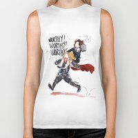 peggy carter Biker Tanks featuring PEGGY CARTER IS WORTHY. by Maryne.
