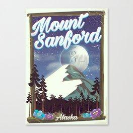 Mount Sanford Alaska Canvas Print