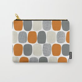 Wonky Ovals in Orange Carry-All Pouch