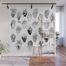 The Anatomy of a Heart Pattern Wall Mural