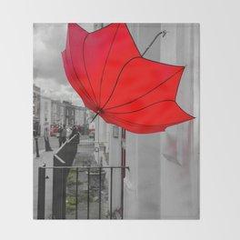 Portobello Red Throw Blanket