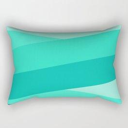 Turquoise Ribbon/Blue Rectangular Pillow