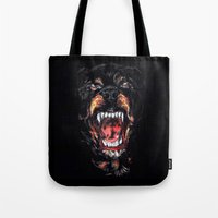givenchy Tote Bags featuring Givenchy Dog by I Love Decor