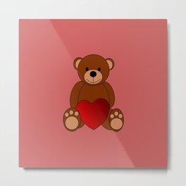 Teddy Love Metal Print