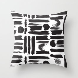 ABSTRACT BRUSHES Throw Pillow