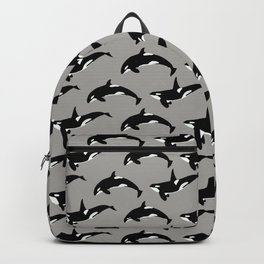 Orca Pattern: Grey Backpack