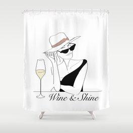 Wine & Shine Shower Curtain