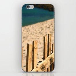 Fence beach iPhone Skin