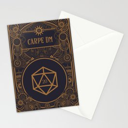 Steampunk Carpe DM D20 Dice Tabletop RPG Gaming Stationery Cards