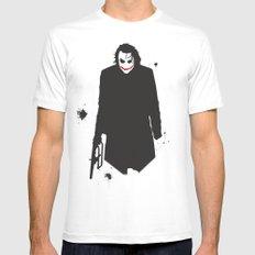 The Dark Knight: Joker White MEDIUM Mens Fitted Tee