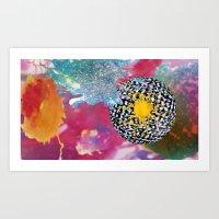 bleach Art Prints featuring Cosmic Bleach by HeidiBlake