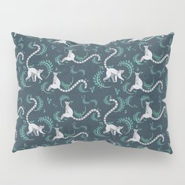 Lemurs walking and sitting in the forest I Pillow Sham