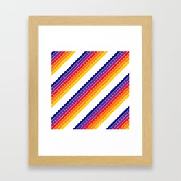 Rainbow Candy Stripe Framed Art Print