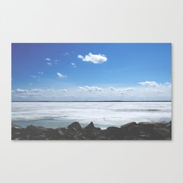 Side of the river Canvas Print