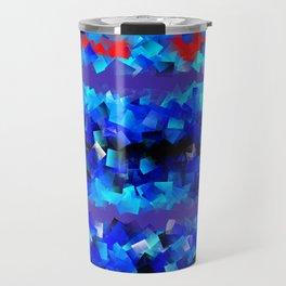 Blue lights and red birds Travel Mug