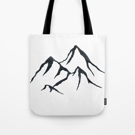 MOUNTAINS Black and White Tote Bag