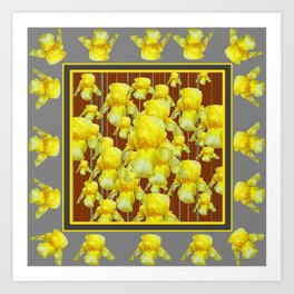 """FOR LOVE OF YELLOW IRIS"" Art Print"