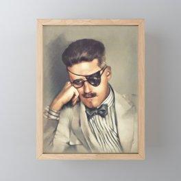 James Joyce, Literary Legend Framed Mini Art Print