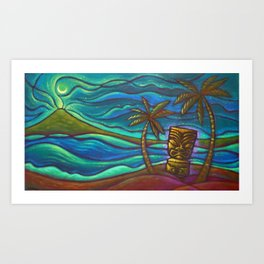 Moon of Manakoora Art Print