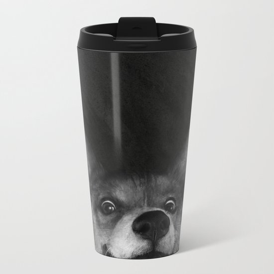 Sausage Fox Metal Travel Mug