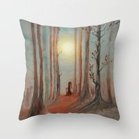 wizard Throw Pillows featuring Track 7: The wizard by Viviana Gonzalez