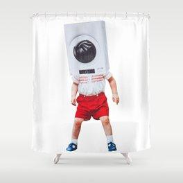 machine boy Shower Curtain