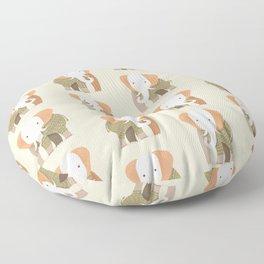 Whimsical Elephant Floor Pillow