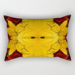 """A Gathering of Lilies"" Remix - 2 (3-1) [D4466~24] Rectangular Pillow"