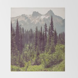 Faraway - Wilderness Nature Photography Throw Blanket