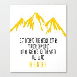 Bergsteigen Klettern Wandern Berge Gipfel Geschenk Canvas Print