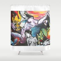 gravity Shower Curtains featuring Gravity by Lilikipi