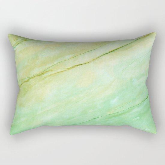 Light green marble Rectangular Pillow