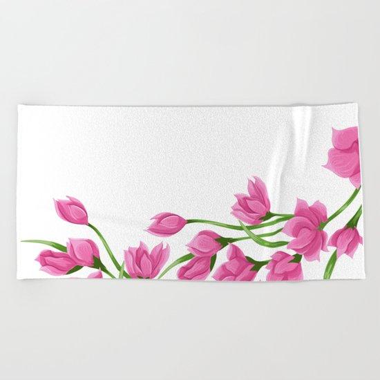 Roses crown Beach Towel