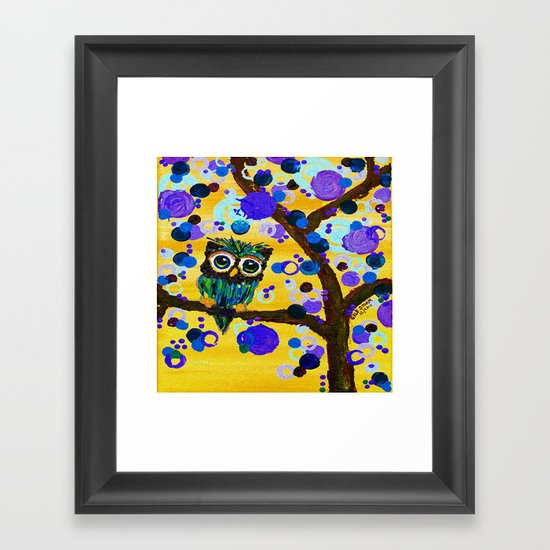 :: Sunshine Gemmy Owl :: Framed Art Print