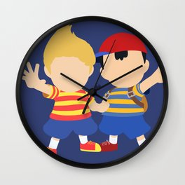 Ness&Lucas(Smash)Blue Wall Clock