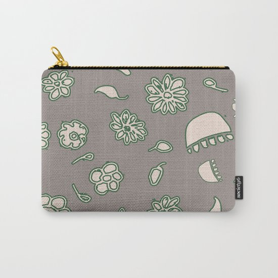 Flower border green Carry-All Pouch
