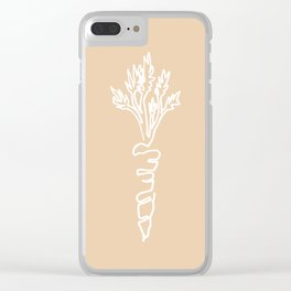 carrot white Clear iPhone Case